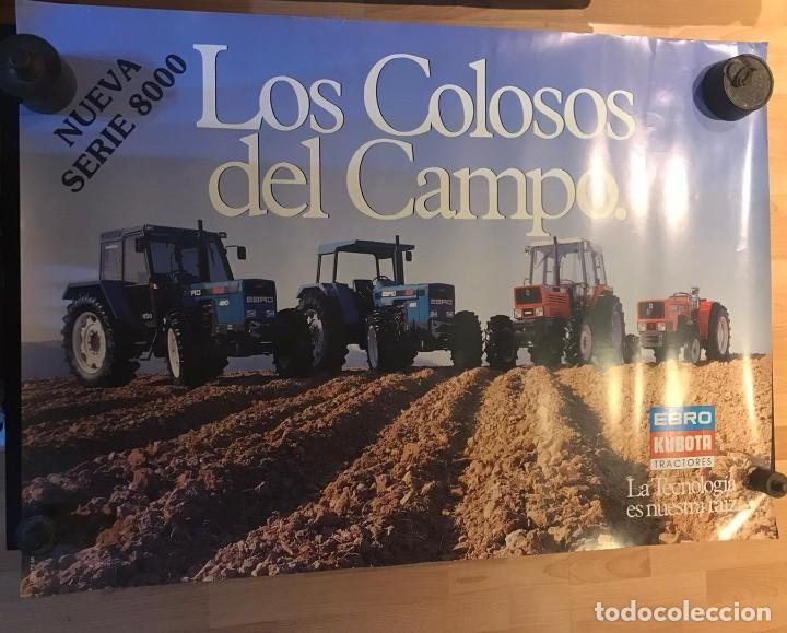 Carteles Publicitarios: CARTEL EBRO KUBOTA SERIE 8000 LOS COLOSOS DEL CAMPO - Foto 4 - 217050388