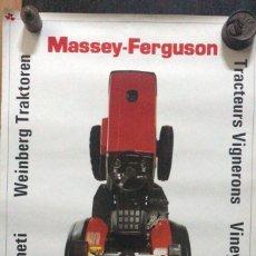 Carteles Publicitarios: MASSEY-FERGUSON TRACTORES PARA VIÑAS TRACTEURS VIGNERONS, VINEYARD TRACTORS. Lote 217052658