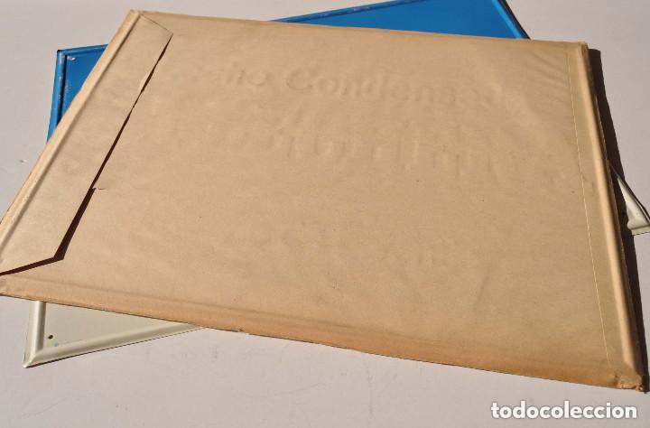 Carteles Publicitarios: CARTEL DE CHAPA LECHE CONDENSADA LA LECHERA LIT. G. ANDREU BADALONA 50 X 35 CM * SOBRE ORIGINAL * - Foto 2 - 218638660