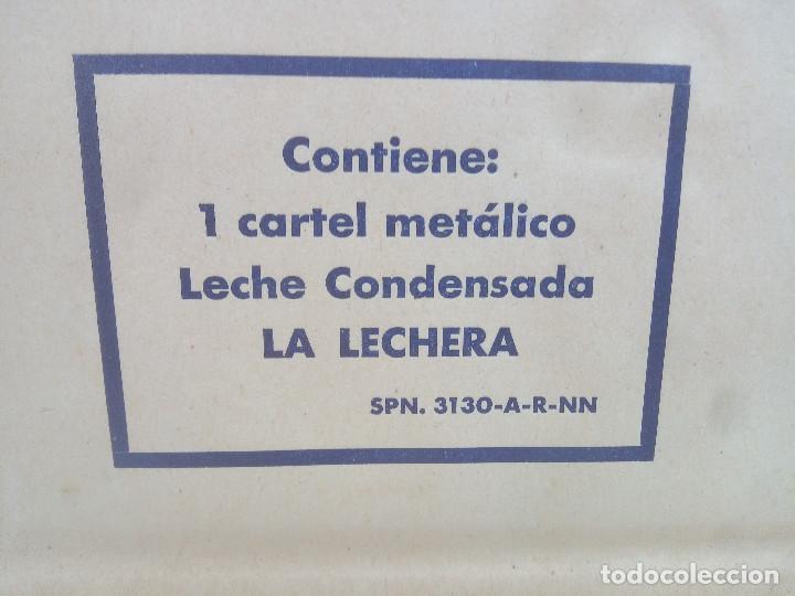 Carteles Publicitarios: CARTEL DE CHAPA LECHE CONDENSADA LA LECHERA LIT. G. ANDREU BADALONA 50 X 35 CM * SOBRE ORIGINAL * - Foto 4 - 218638660