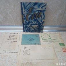 Carteles Publicitarios: FOLLETO DE INFORMACION EVA CORRESPONDENCIA CURSOS CORTE Y CONFECCION ACADEMIA A.E.I. SAN SEBASTIAN.. Lote 218741545