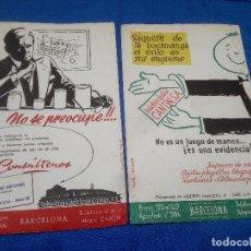 Carteles Publicitarios: DOS FOLLETOS DE PUBLIACIDAD INDUSTRIAS GRAFICAS CANTIN S.A. ( BARCELONA ) PAPEL SECANTE.. Lote 218746136