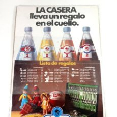 Affiches Publicitaires: CARTEL PUBLICITARIO LA CASERA 45X30 - LISTA DE REGALOS. Lote 218764346