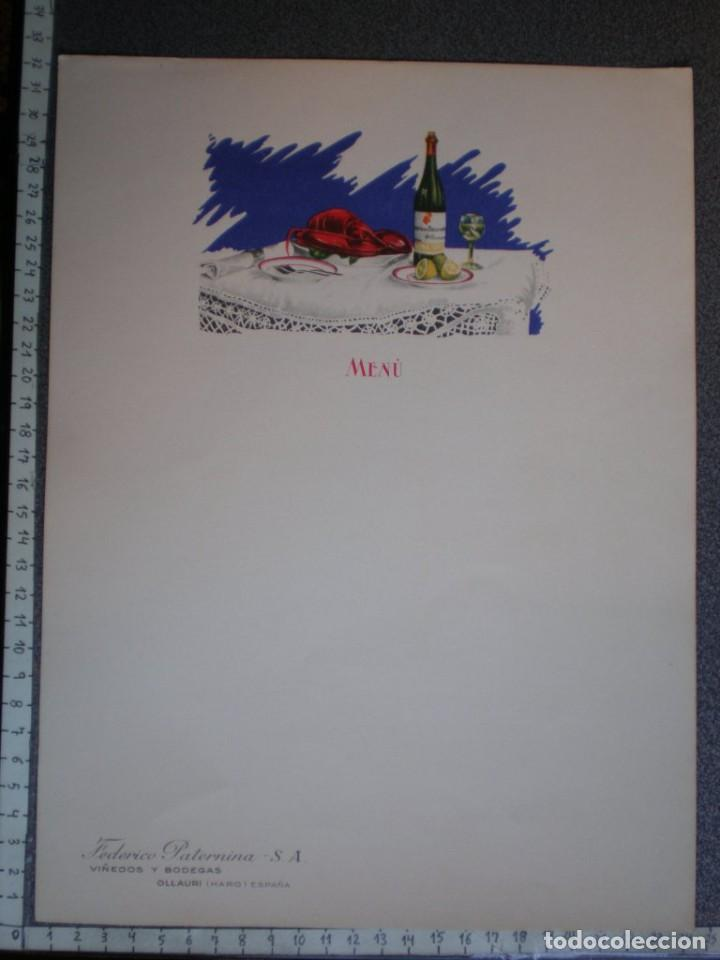OLLAURI (HARO) 3 HOJAS PUBLICITARIAS ANTIGUAS FEDERICO PATERNINA PARA MENÚS - GRAN TAMAÑO (Coleccionismo - Carteles Gran Formato - Carteles Publicitarios)