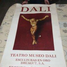Cartazes Publicitários: SINGULAR GRAND CARTEL TEATRO MUSEO DALÍ ESCULTURAS EN ORO BRUAGUT S. A. 1974 FIGUERAS. Lote 218996097