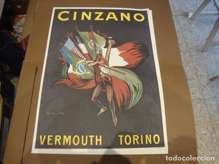 CARTEL CINZANO VERMOUTH TORINO 43 X 61 CM (Coleccionismo - Carteles Gran Formato - Carteles Publicitarios)