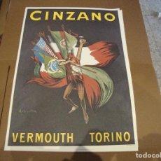 Carteles Publicitarios: CARTEL CINZANO VERMOUTH TORINO 43 X 61 CM. Lote 219194585