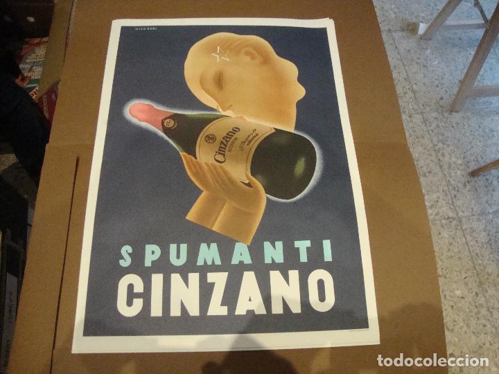 CARTEL SPUMANTI CINZANO 43 X 61 CM (Coleccionismo - Carteles Gran Formato - Carteles Publicitarios)