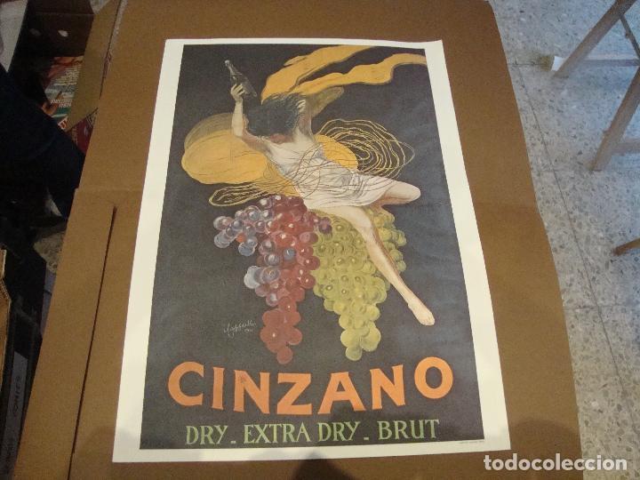 CARTEL CINZANO DRY EXTRA DRY BRUT 43 X 61 CM (Coleccionismo - Carteles Gran Formato - Carteles Publicitarios)