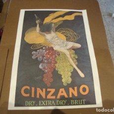 Carteles Publicitarios: CARTEL CINZANO DRY EXTRA DRY BRUT 43 X 61 CM. Lote 219194821