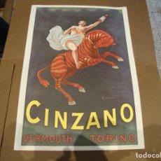 Carteles Publicitarios: CARTEL CINZANO VERMOUTH TORINO 43 X 61 CM. Lote 219194900