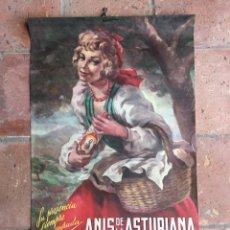 Affiches Publicitaires: CARTEL CALENDARIO ANTIGUO DE 1963 PUBLICIDAD ANIS LA ASTURIANA 80X49 AÑOS 60, POSTER, ANUNCIO, BAR. Lote 219391197