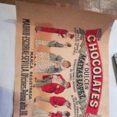 Affiches Publicitaires: CHOCOLATES Y DULCES MATÍAS LÓPEZ. Lote 219977188