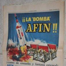 Carteles Publicitarios: HOJA PUBLICIDAD LA VANGUARDIA 1961, AFIN GALLINA BLANCA. Lote 220483140