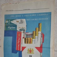 Carteles Publicitarios: HOJA PUBLICIDAD LA VANGUARDIA 1962, CIGARRILLOS MARLBORO. Lote 220483307