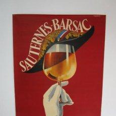 Affiches Publicitaires: CARTEL PUBLICITARIO VINO - SAUTERNES-BARSAC - VINS BLANCS UNIQUES AU MONDE - FALCUCCÍ. Lote 220810675