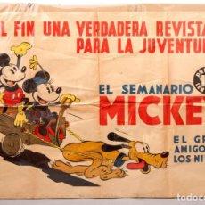 Affiches Publicitaires: CARTEL - SEMANARIO MICKEY - C. 1930. Lote 221084343