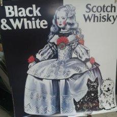 Carteles Publicitarios: BLACK & WHITE SCOTH WHISKY - CARTEL PUBLICITARIO MENINA XXL GIGANTE. ANTONIO DE FELIPE. 1993. Lote 221129625