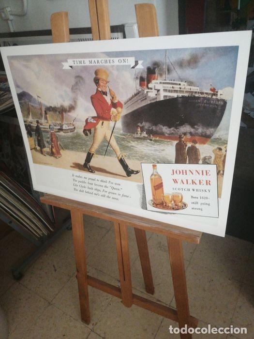 Carteles Publicitarios: JOHNNIE WALKER - Cartel Publicidad Clásico RICORDI - Década de 1950 Diseño de póster - 1999 - Foto 2 - 221160165