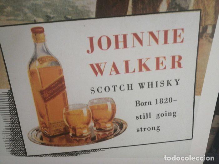 Carteles Publicitarios: JOHNNIE WALKER - Cartel Publicidad Clásico RICORDI - Década de 1950 Diseño de póster - 1999 - Foto 3 - 221160165