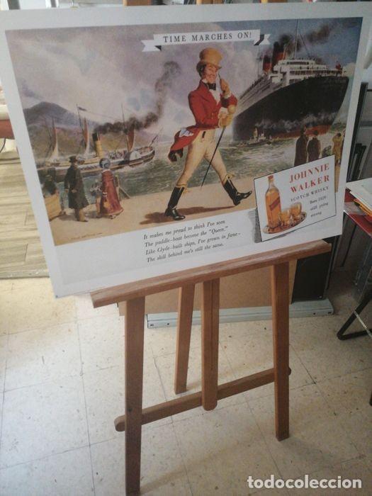 Carteles Publicitarios: JOHNNIE WALKER - Cartel Publicidad Clásico RICORDI - Década de 1950 Diseño de póster - 1999 - Foto 6 - 221160165