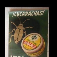Affiches Publicitaires: CUCARACHAS. INFALIBLE CRUZ CERDE. JOSEP ARTIGAS.. Lote 221451577
