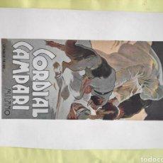 Carteles Publicitarios: CARTEL ORIGINAL CARTELITO PROVIENE DE UNA ANTIGUA REVISTA DE 1900 CAMPARI HOHENSTEIN 18X25CM. Lote 221647203