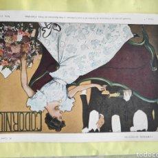 Carteles Publicitarios: CARTEL ORIGINAL CARTELITO PROVIENE DE UNA ANTIGUA REVISTA DE 1900 CORDONIU CAVA CASAS. Lote 221647458