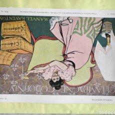 Carteles Publicitarios: CARTEL ORIGINAL CARTELITO PROVIENE DE UNA ANTIGUA REVISTA DE 1900 CAVA CORDONIU CASAS. Lote 221647657