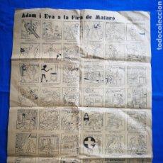 Carteles Publicitarios: AUCA ADAM I EVA A LA FIRA DE MATARÓ.. Lote 221898397