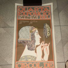 Carteles Publicitarios: CARTEL DE LA CUARTA EXPOSICION CIRCOL DE SANT LLUNCH - A. RIQUER LITO UTRILLO & RIALP 24/4 AL 15/5. Lote 222059928