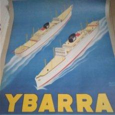 Carteles Publicitarios: CARTEL CRUCEROS IBARRA AÑO 1950. Lote 222160770