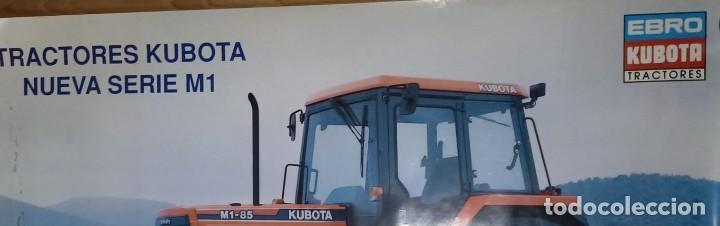Carteles Publicitarios: CARTEL TRACTORES EBRO KUBOTA SERIE M1 85 KUBOTA - Foto 5 - 223759018
