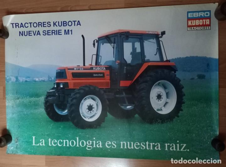 Carteles Publicitarios: CARTEL TRACTORES EBRO KUBOTA SERIE M1 85 KUBOTA - Foto 6 - 223759018