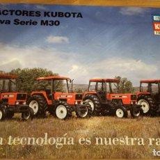 Carteles Publicitarios: CARTEL TRACTORES KUBOTA NUEVA SERIE M30. Lote 223871708