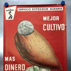 Carteles Publicitarios: CAMPAÑA MEJORA DEL ALMENDRO - MEJOR CULTIVO - MAS DINERO - CARTEL LITOGRAFICO - AÑO 1969. Lote 223904293