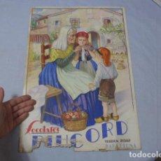 Carteles Publicitarios: * ANTIGUO CARTEL DE PUBLICIDAD DE CHOCOLATES DE BARCELONA, ORIGINAL. ZX. Lote 224679956