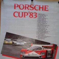 Carteles Publicitarios: RARO CARTEL / POSTER ORIGINAL DE PORSCHE CUP 1983. Lote 224756532