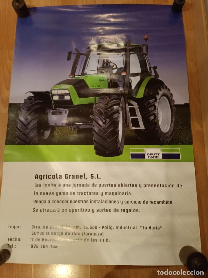ANTIGUO CARTEL TRACTOR DEUTZ FARZ - AGRICOLA GRANEL S.L (Coleccionismo - Carteles Gran Formato - Carteles Publicitarios)