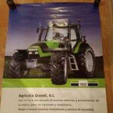 Carteles Publicitarios: ANTIGUO CARTEL TRACTOR DEUTZ FARZ - AGRICOLA GRANEL S.L. Lote 224802836