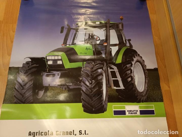 Carteles Publicitarios: ANTIGUO CARTEL TRACTOR DEUTZ FARZ - AGRICOLA GRANEL S.L - Foto 2 - 224802836