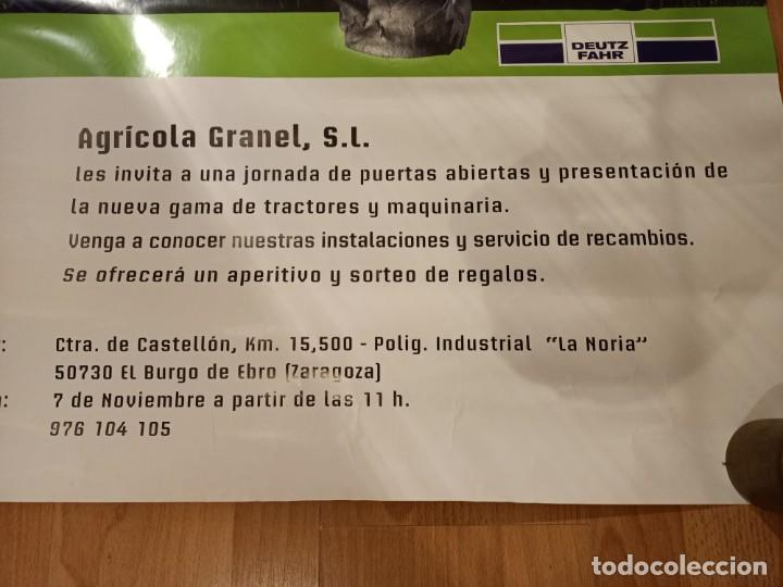 Carteles Publicitarios: ANTIGUO CARTEL TRACTOR DEUTZ FARZ - AGRICOLA GRANEL S.L - Foto 3 - 224802836