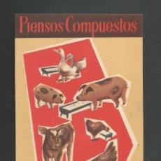 Carteles Publicitarios: CARTEL PIENSOS COMPUESTOS NUTROTON FABRICA DE FIENSOS COMPUESTOS I.V.A.N.A.S.A VALLADOLID. Lote 224963547