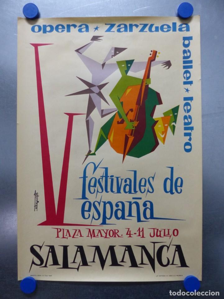 SALAMANCA - V FESTIVALES DE ESPAÑA, OPERA, ZARZUELA, BALLET, TEATRO - AÑO 1965 (Coleccionismo - Carteles Gran Formato - Carteles Publicitarios)