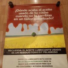 Carteles Publicitarios: CARTEL RECICLAJE ACEITE TALLERES - GOBIERNO DE ARAGON. Lote 228054460