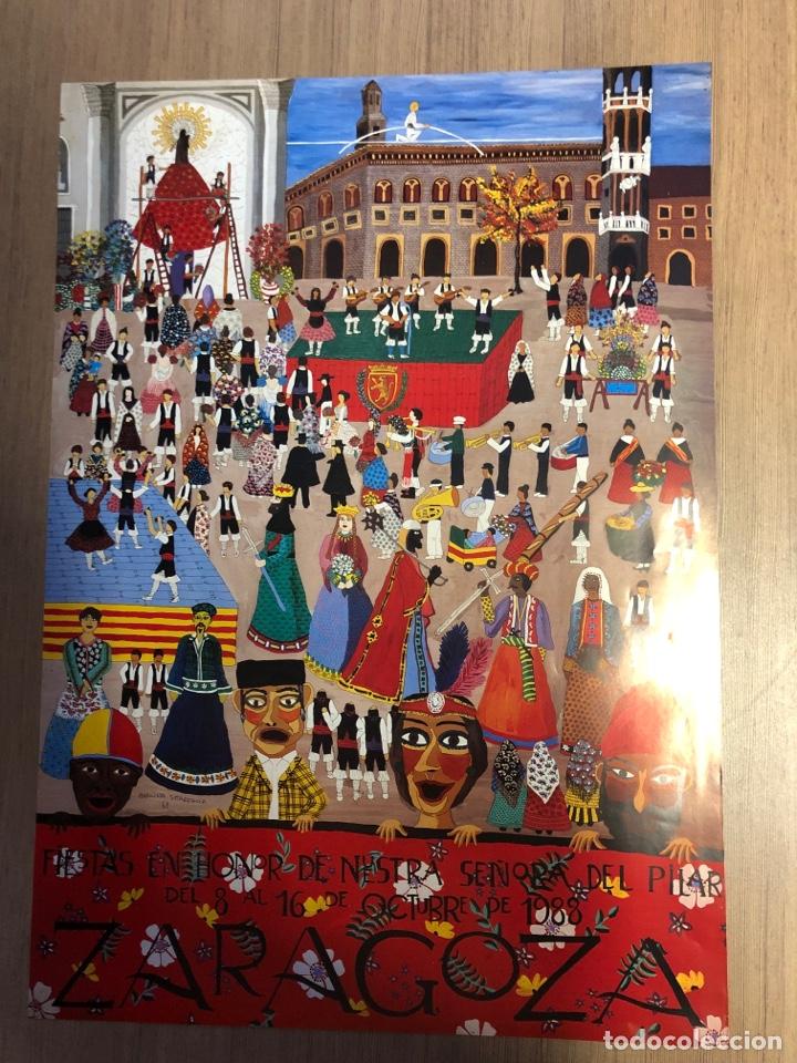 CARTEL DE LAS FIESTAS DEL PILAR ZARAGOZA 1988 61X43CM (Coleccionismo - Carteles Gran Formato - Carteles Publicitarios)