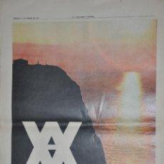 Cartazes Publicitários: HOJA PUBLICIDAD LA VANGUARDIA 1963, CRUCEROS YBARRA. Lote 228742610