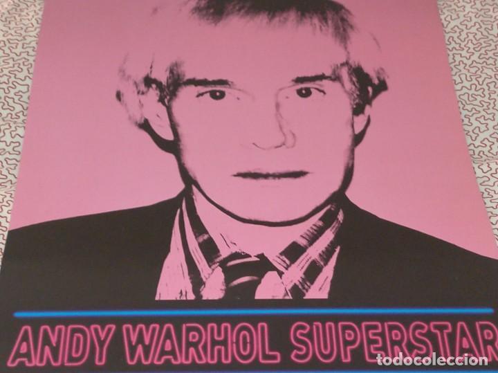 CARTEL-- ANDY WARHOL -- SUPERSTAR -- 60X42 CM -- PERFECTO ESTADO (Coleccionismo - Carteles Gran Formato - Carteles Publicitarios)