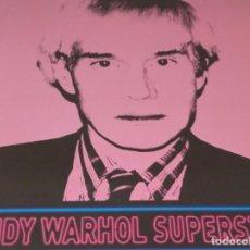 Carteles Publicitarios: CARTEL-- ANDY WARHOL -- SUPERSTAR -- 60X42 CM -- PERFECTO ESTADO. Lote 234488365