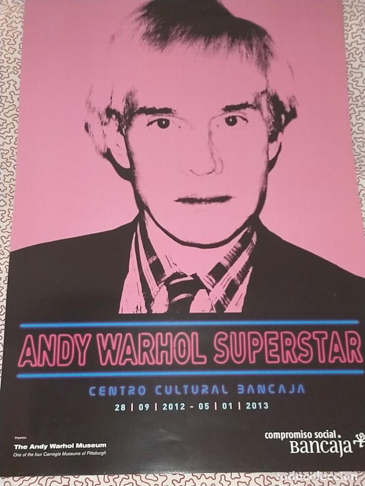 Carteles Publicitarios: CARTEL-- ANDY WARHOL -- SUPERSTAR -- 60x42 cm -- PERFECTO ESTADO - Foto 3 - 234488365
